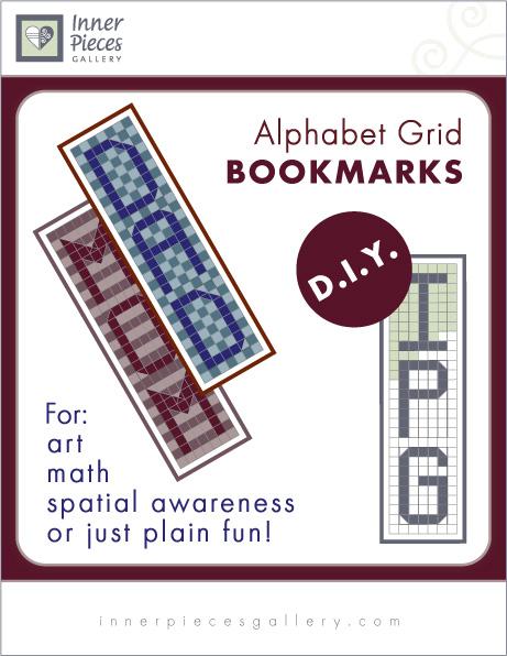 Alphabet Grid Bookmarks