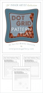 Dot Grid Pattern Play, An Art-for-Brains Activity that helps kids build visual figure ground skills, visual tracking, spatial awareness and so much more. Whether you use it for handwriting skills practice (without the handwriting), basic geometry, pattern recognition, art or other purpose, kids will love finding the hidden shapes in this learning powered printable pack.