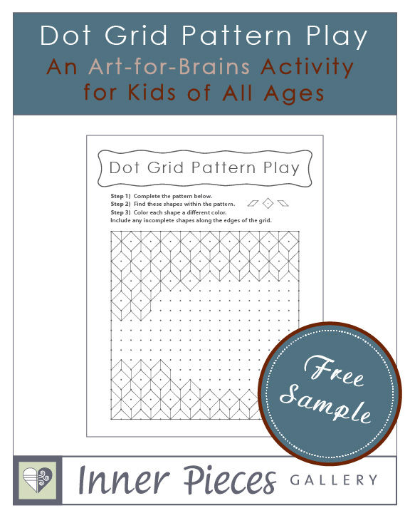 This dot grid pattern disguised-as-art activity for kids builds visual figure ground, spatial awareness, visual tracking, fine motor skills, and much more.