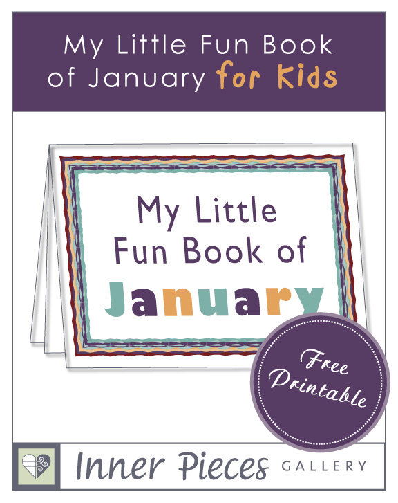 My Little Fun Book of January, a free printable activity book for kids.