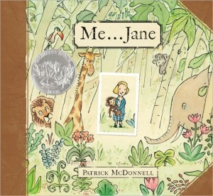 Me... Jane, a picture book biography of Dr. Jane Goodall, teaches kids what passion, persistence, and a little dreaming can really do. Quick children's book review.