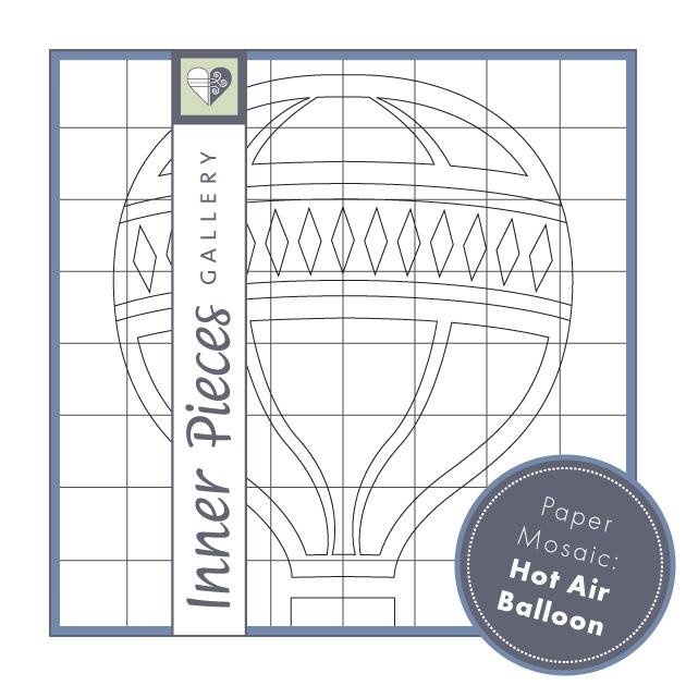 Paper Mosaic Hot Air Balloon