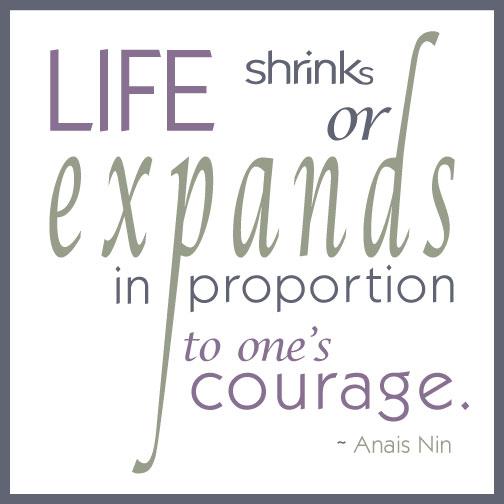 Quote: Anais Nin on courage