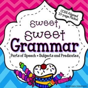 The Sweet, Sweet 3rd Grade Grammar Pack from Kiki's Classroom