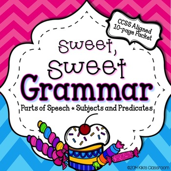The Sweet, Sweet 3rd Grade Grammar Pack from Kiki's Classroom
