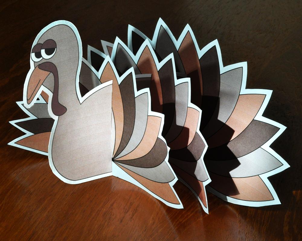 Kids Printable Thanksgiving Tabletop Turkey