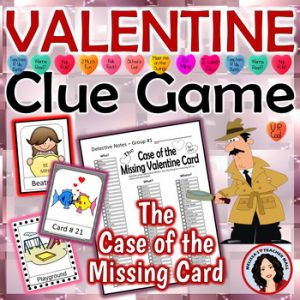 Valentine Clue Game from Malissa's Teacher Mall