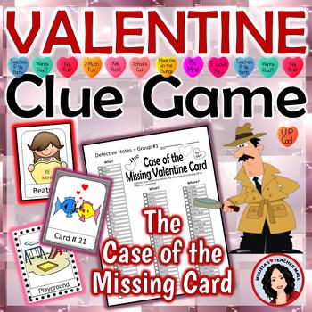Valentine Clue Game from Malissa's Teacher Mall