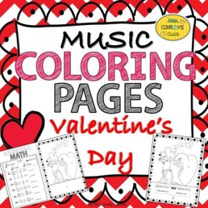 Valentine's Day Music Coloring Pages from Emily Conroy