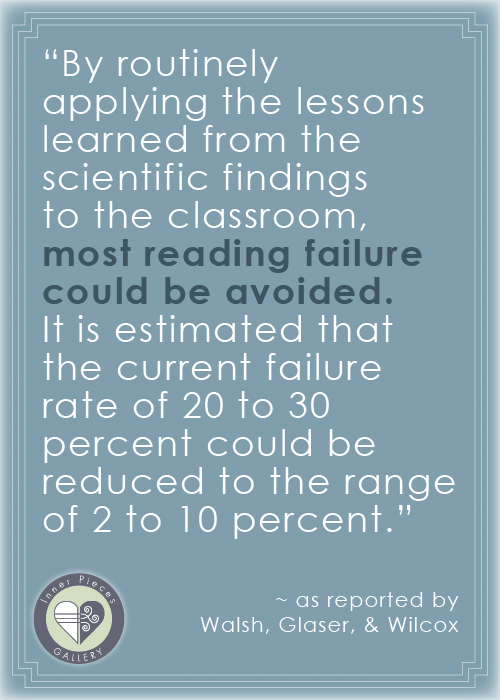 "How do we prevent the majority of reading failure? Read ""Why Can't We Blame the Teachers? Part 2."""