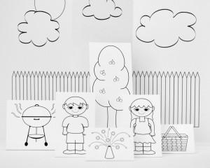 "Fun Printable Paper Scene ""Summertime"""