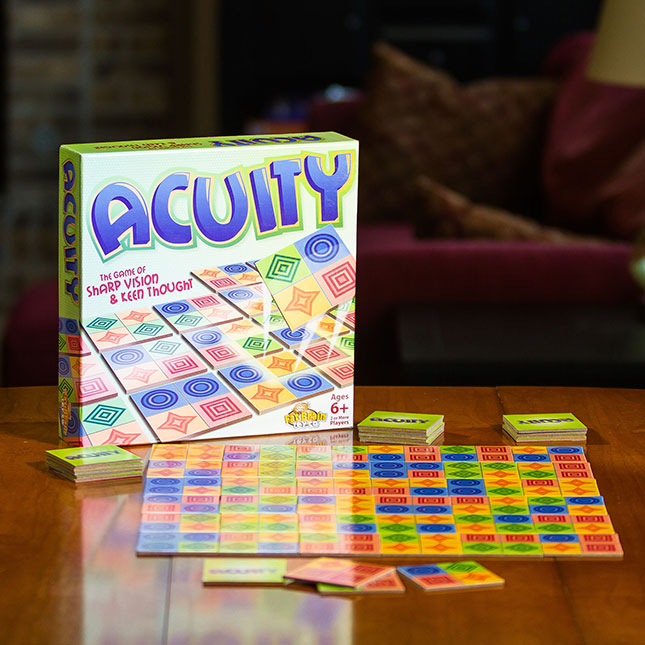 Acuity is a fun game to strengthen spatial skills and more. Great to help children with learning differences.