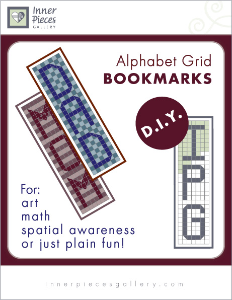 Alphabet Grid Bookmarks