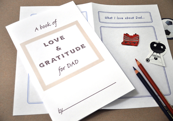 Printable Book of Love and Gratitude for Dad