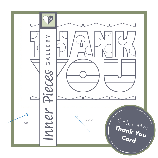Printable Color Me Thank You Card for Kids