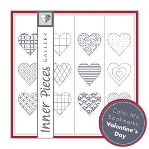 Color Me Valentine's Day Bookmarks