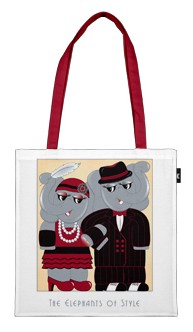 The Elephants of Style Tote Bag