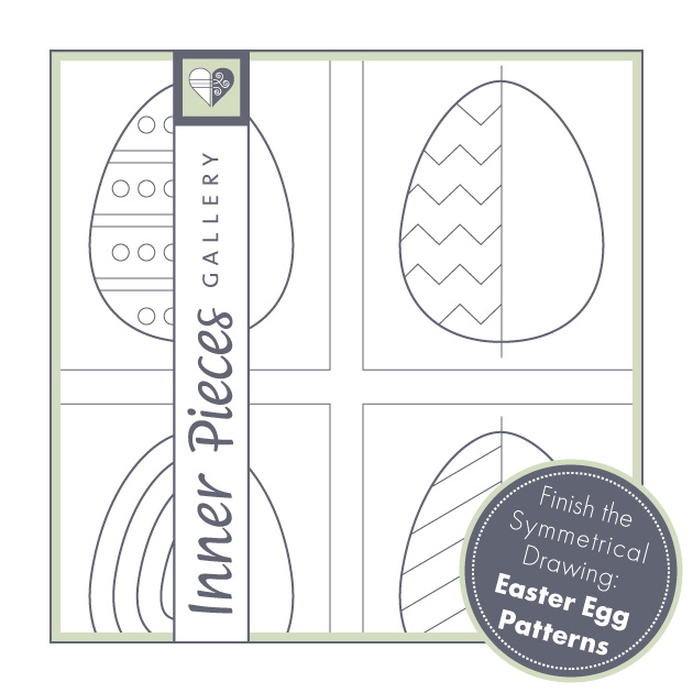 Finish the Symmetrical Drawing: Easter Egg Patterns
