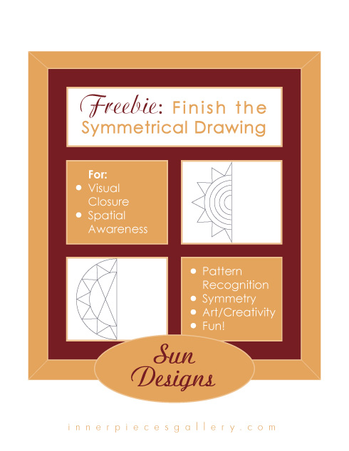 Finish the Symmetrical Drawing SUN DESIGNS