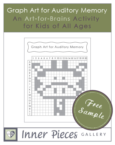 Graph Art for Auditory Memory. Kids will love this free printable activity to strengthen auditory memory, listening skills and even more cognitive abilities. Plus they get to color this friendly giraffe when they're finished.