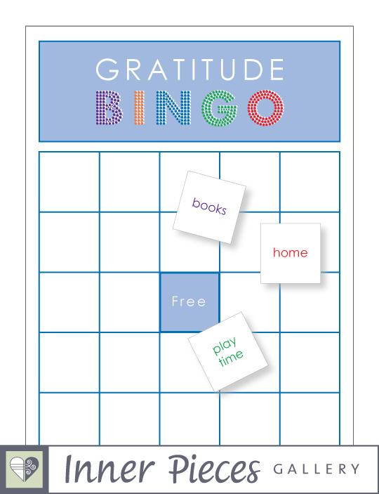 Gratitude Bingo Game DIY