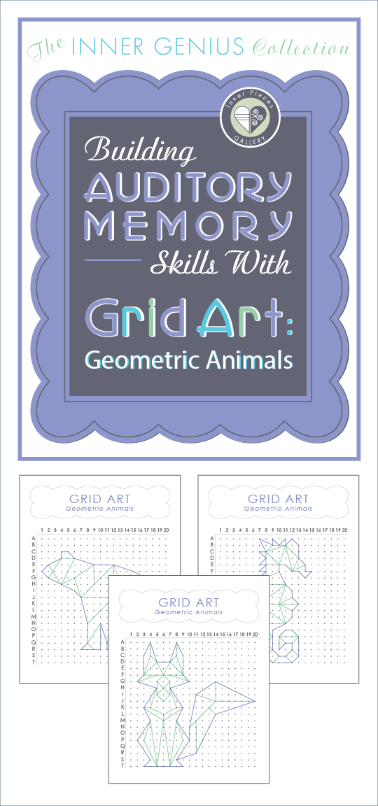 Whether children need to improve auditory memory and listening skills or not, Grid Art: Geometric Animals offers a fun, sneaky way to strengthen this important learning skill.