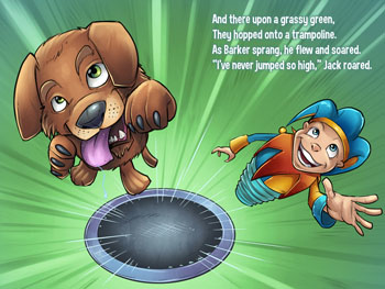 JUMP! A children's book by Julia Dweck with a very uplifting message.  Illustrated by Brian Allen.
