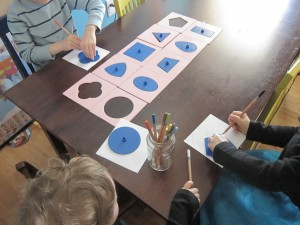 Montessori metal insets