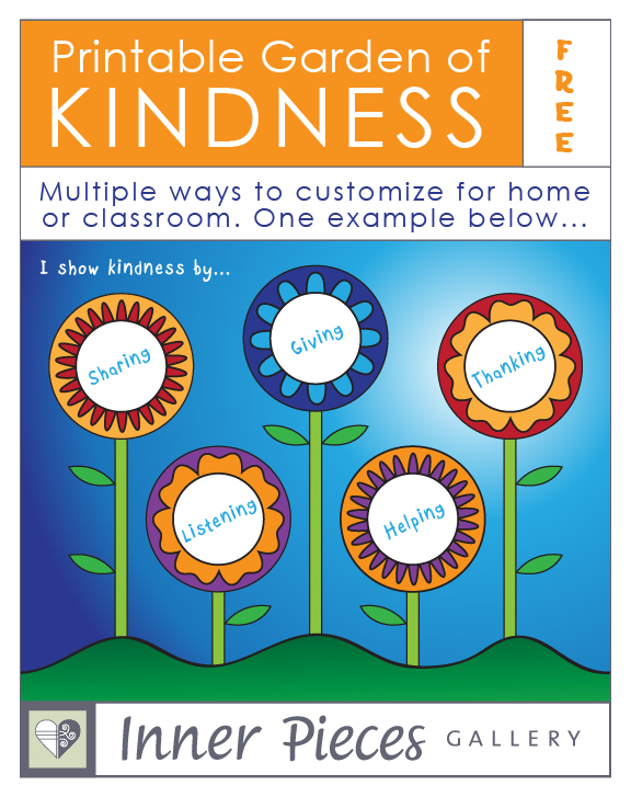 This fun (free) printable Garden of Kindness for kids was inspired by an actual garden. Catch kids in the act of being kind. Or help kids catch each other's kindness in a fun, motivating way. So many ways to customize this one. Can be used as a Garden of Gratitude as well.
