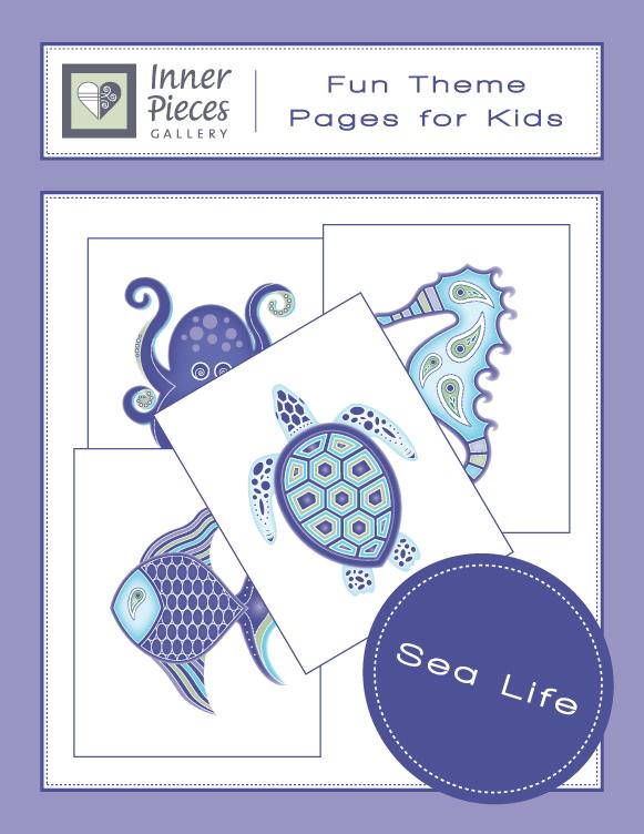 Sea Life Theme Printable Fun Pages
