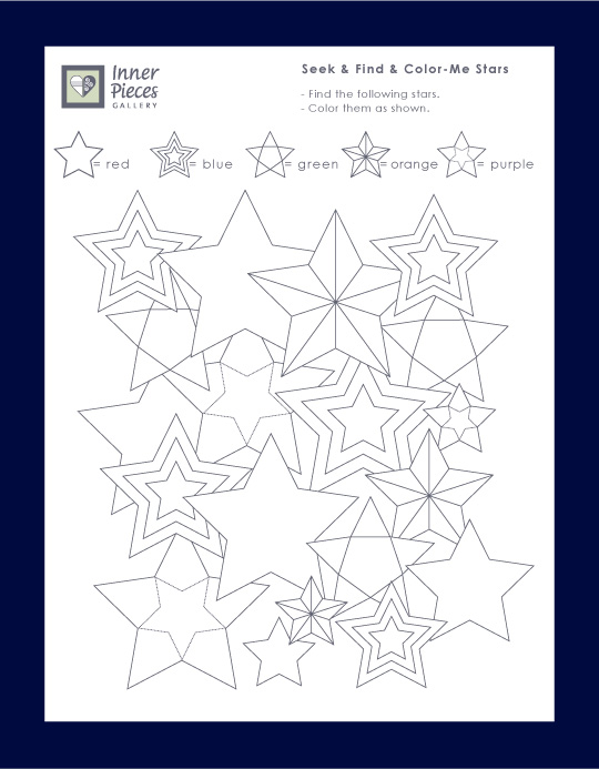 Seek and Find and Color Me Stars - strengthen visual skills on Independence Day or any time you want to celebrate the stars in your life.