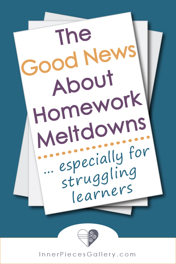 It's true, we can find quite a bit of good news when it comes to homework meltdowns, especially for struggling learners. Don't believe me? Read more.