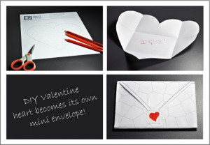 Printable DIY Mosaic Valentine as Envelope