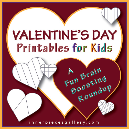 Want to counterbalance the sugar high your kids will inevitably experience on Valentine's Day? This roundup of sugar free, heart themed activities can also boost a little brain power in the process. They also work well on any other love filled day of the year.
