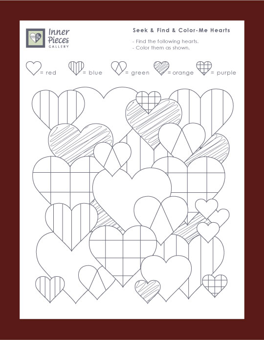 Valentine's Day Seek and Find and Color-Me Hearts