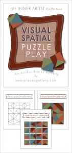 Help students strengthen visual spatial perception, critical for math and reading, the fun way. Visual Spatial Puzzle Play, An Art-for-Brains Activity is appropriate for classrooms, homeschool and therapeutic intervention for kids in early elementary and beyond.