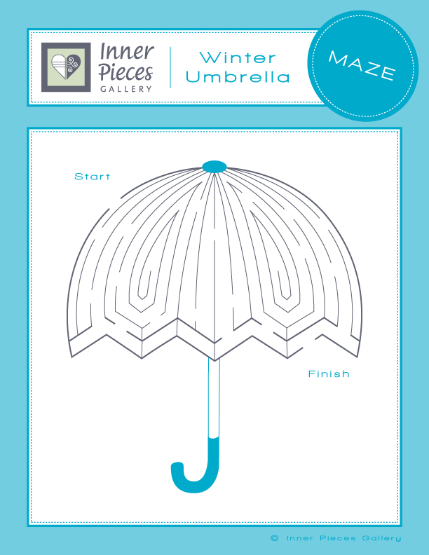kids' maze winter umbrella theme