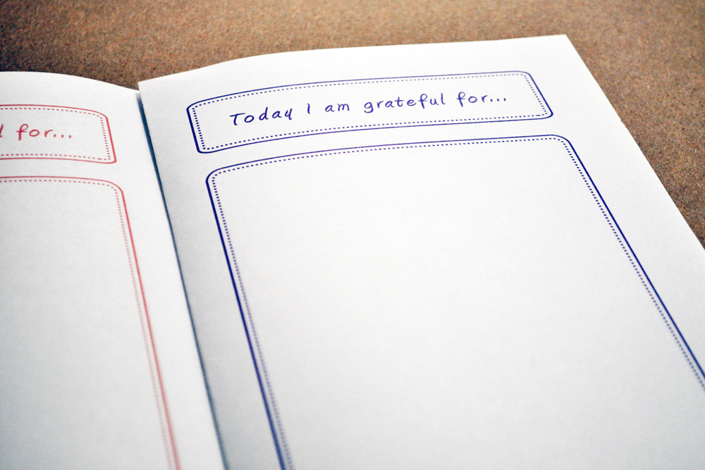 Inside pages of unlined printable gratitude journal for kids / Inner Pieces Gallery